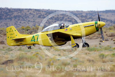 Race Airplane North American P-51 Mustang Ole Yeller N51RH 00001 Air racing plane North American P-51 Mustang Ole Yeller at Reno air races by Peter J Mancus