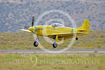 Race Airplane North American P-51 Mustang Ole Yeller N51RH 00002 Air racing plane North American P-51 Mustang Ole Yeller at Reno air races by Peter J Mancus