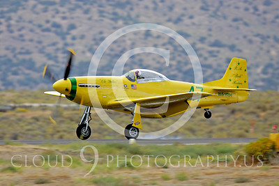Race Airplane North American P-51 Mustang Ole Yeller N51RH 00004 Air racing plane North American P-51 Mustang Ole Yeller at Reno air races by Peter J Mancus