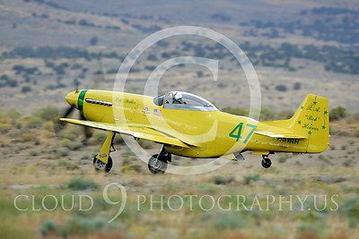 Race Airplane North American P-51 Mustang Ole Yeller N51RH 00003 Air racing plane North American P-51 Mustang Ole Yeller at Reno air races by Peter J Mancus