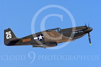 Race Airplane Polar Bear 00002 North American P-51 Mustang race airplane Polar Bear N51Z at Reno air races by Peter J Mancus
