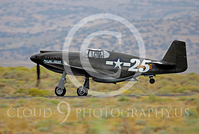 Race Airplane North American P-51 Mustang Polar Bear 00037 Air racing plane North American P-51 Mustang Polar Bear at Reno air races by Peter J Mancus