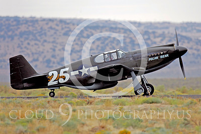 Race Airplane North American P-51 Mustang Polar Bear 00015 Air racing plane North American P-51 Mustang Polar Bear at Reno air races by Peter J Mancus