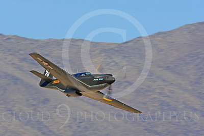Race Airplane Polar Bear 00018 North American P-51 Mustang race airplane Polar Bear N51Z at Reno air races by Peter J Mancus