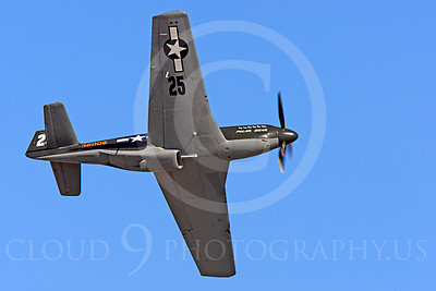 Race Airplane Polar Bear 00016 North American P-51 Mustang race airplane Polar Bear N51Z at Reno air races by Peter J Mancus