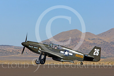 Race Airplane Polar Bear 00001 North American P-51 Mustang race airplane Polar Bear N51Z at Reno air races by Peter J Mancus