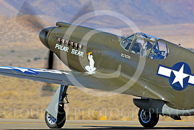Race Airplane Polar Bear 00009 North American P-51 Mustang race airplane Polar Bear N51Z at Reno air races by Peter J Mancus