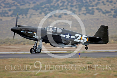 Race Airplane North American P-51 Mustang Polar Bear 00013 Air racing plane North American P-51 Mustang Polar Bear at Reno air races by Peter J Mancus