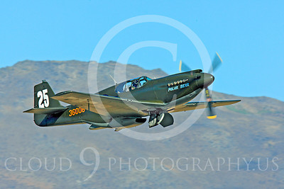 Race Airplane Polar Bear 00008 North American P-51 Mustang race airplane Polar Bear N51Z at Reno air races by Peter J Mancus