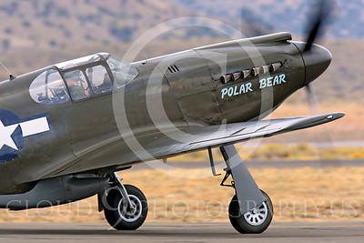 Race Airplane Polar Bear 00003 North American P-51 Mustang race airplane Polar Bear N51Z at Reno air races by Peter J Mancus