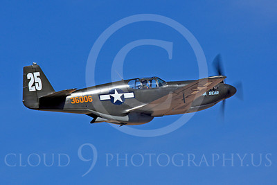 Race Airplane Polar Bear 00004 North American P-51 Mustang race airplane Polar Bear N51Z at Reno air races by Peter J Mancus