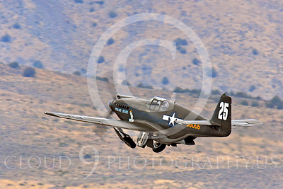Race Airplane Polar Bear 00010 North American P-51 Mustang race airplane Polar Bear N51Z at Reno air races by Peter J Mancus