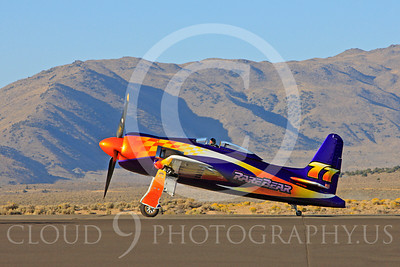 Race Airplane Rare Bear 00007 Grumman F8 Bearcat race airplane Rare Bear N777L at Reno air races by Peter J Mancus