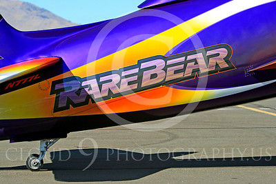 Race Airplane Rare Bear 00035 Grumman F8 Bearcat race airplane Rare Bear N777L at Reno air races by Peter J Mancus