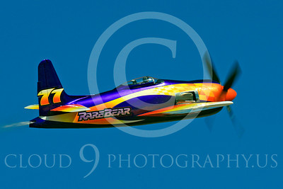 Race Airplane Rare Bear 00030 Grumman F8 Bearcat race airplane Rare Bear N777L at Reno air races by Peter J Mancus