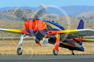 Race Airplane Rare Bear 00009 Grumman F8 Bearcat race airplane Rare Bear N777L at Reno air races by Peter J Mancus