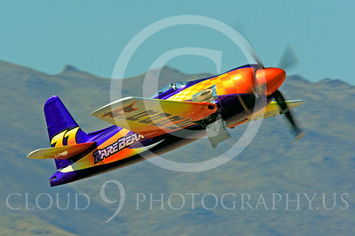 Race Airplane Rare Bear 00050 Grumman F8 Bearcat race airplane Rare Bear N777L at Reno air races by Peter J Mancus