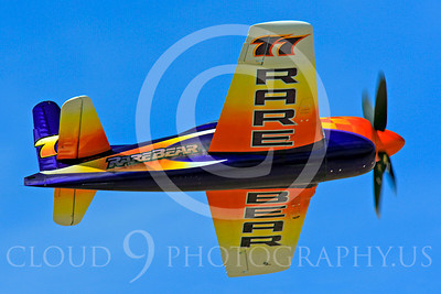 Race Airplane Rare Bear 00022 Grumman F8 Bearcat race airplane Rare Bear N777L at Reno air races by Peter J Mancus