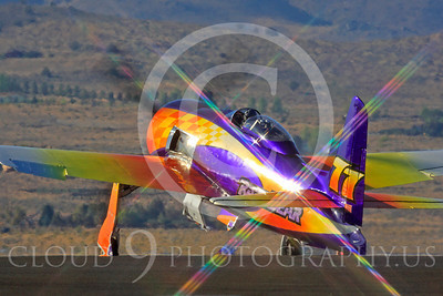 Race Airplane Rare Bear 00013 Grumman F8 Bearcat race airplane Rare Bear N777L at Reno air races by Peter J Mancus