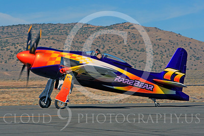 Race Airplane Rare Bear 00001 Grumman F8 Bearcat race airplane Rare Bear N777L at Reno air races by Peter J Mancus