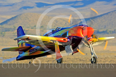 Race Airplane Rare Bear 00005 Grumman F8 Bearcat race airplane Rare Bear N777L at Reno air races by Peter J Mancus