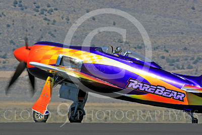 Race Airplane Rare Bear 00003 Grumman F8 Bearcat race airplane Rare Bear N777L at Reno air races by Peter J Mancus