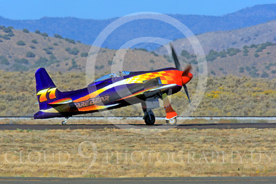 Race Airplane Rare Bear 00019 Grumman F8 Bearcat race airplane Rare Bear N777L at Reno air races by Peter J Mancus