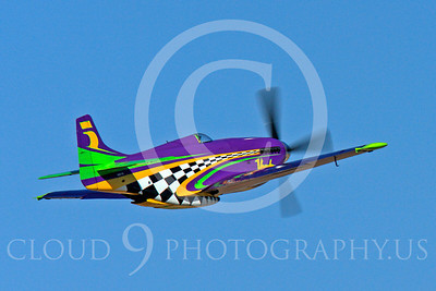 Race Airplane Voodoo 00016 North American P-51 Mustang race airplane Voodoo N551VC at Reno air races by Peter J Mancus