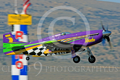 Race Airplane Voodoo 00008 North American P-51 Mustang race airplane Voodoo N551VC at Reno air races by Peter J Mancus