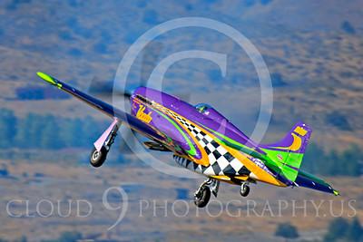 Race Airplane Voodoo 00002 North American P-51 Mustang race airplane Voodoo N551VC at Reno air races by Peter J Mancus