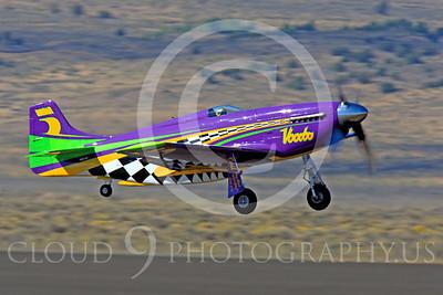 Race Airplane Voodoo 00018 North American P-51 Mustang race airplane Voodoo N551VC at Reno air races by Peter J Mancus