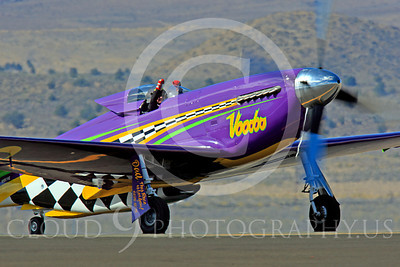 Race Airplane Voodoo 00013 North American P-51 Mustang race airplane Voodoo N551VC at Reno air races by Peter J Mancus