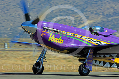 Race Airplane Voodoo 00003 North American P-51 Mustang race airplane Voodoo N551VC at Reno air races by Peter J Mancus