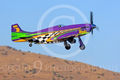 Race Airplane Voodoo 00004 North American P-51 Mustang race airplane Voodoo N551VC at Reno air races by Peter J Mancus