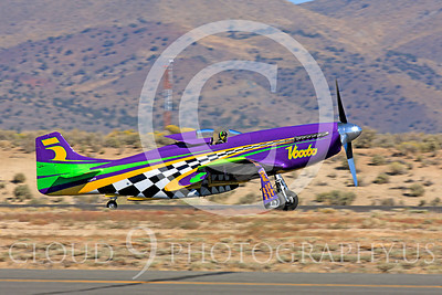 Race Airplane Voodoo 00017 North American P-51 Mustang race airplane Voodoo N551VC at Reno air races by Peter J Mancus