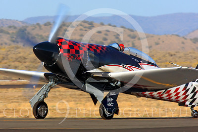 Race Airplane Riff Raff 00021 Hawker Sea Fury race airplane Riff Raff NX62143 at Reno air races by Peter J Mancus