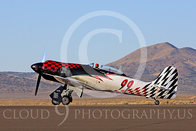 Race Airplane Riff Raff 00083 Hawker Sea Fury race airplane Riff Raff NX62143 at Reno air races by Peter J Mancus