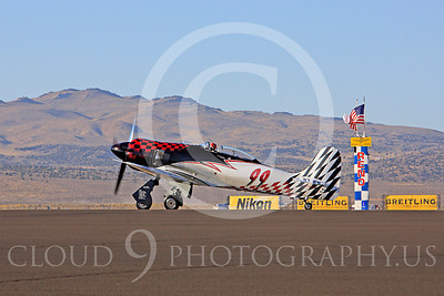 Race Airplane Riff Raff 00069 Hawker Sea Fury race airplane Riff Raff NX62143 at Reno air races by Peter J Mancus