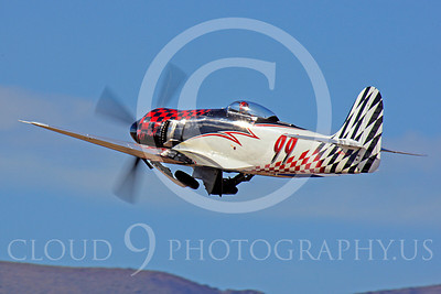 Race Airplane Riff Raff 00078 Hawker Sea Fury race airplane Riff Raff NX62143 at Reno air races by Peter J Mancus