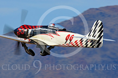 Race Airplane Riff Raff 00010 Hawker Sea Fury race airplane Riff Raff NX62143 at Reno air races by Peter J Mancus