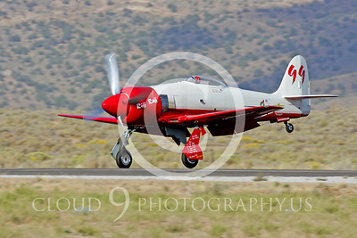 Race Airplane Hawker Sea Fury Riff Raff NX62143 00071 Air racing plane Hawker Sea Fury Riff Raff NX61243 at Reno air races by Peter J Mancus