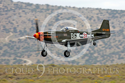 Race Airplane North American P-51 Mustang Speedball Alice 00012 Air racing plane North American P-51 Mustang Speedball Alice at Reno air races by Peter J Mancus