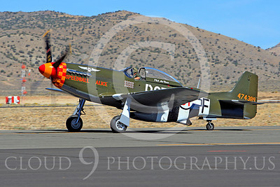 Race Airplane Speedball Alice 00003 North American P-51 Mustang race airplane Speedball Alice at Reno air races by Peter J Mancus