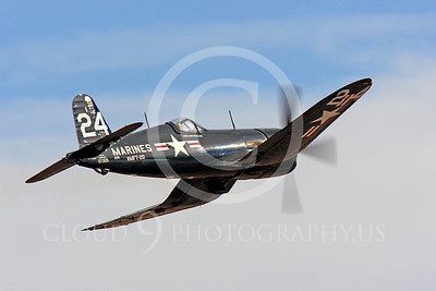 Race Airplane F4U Corsair 00018 Vought F4U Corsair NX240CA at Reno air races by Peter J Mancus