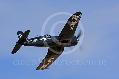Race Airplane F4U Corsair 00014 Vought F4U Corsair NX240CA at Reno air races by Peter J Mancus