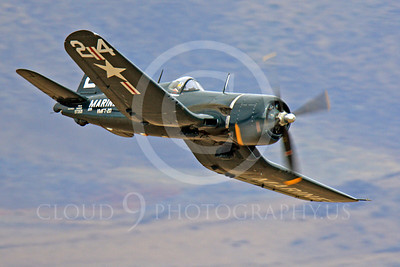 Race Airplane F4U Corsair 00030 Vought F4U Corsair NX240CA at Reno air races by Peter J Mancus