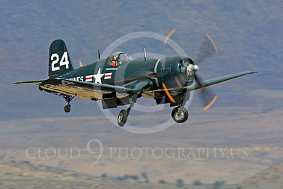 Race Airplane F4U Corsair 00010 Vought F4U Corsair NX240CA at Reno air races by Peter J Mancus