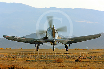 Race Airplane F4U Corsair 00015 Vought F4U Corsair NX240CA at Reno air races by Peter J Mancus