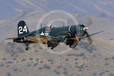 Race Airplane F4U Corsair 00005 Vought F4U Corsair NX240CA at Reno air races by Peter J Mancus
