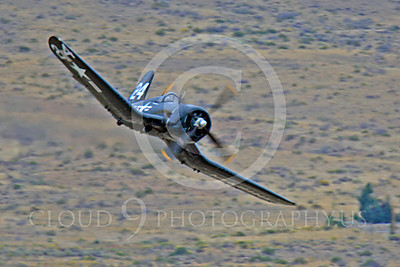 Race Airplane F4U Corsair 00002 Vought F4U Corsair NX240CA at Reno air races by Peter J Mancus